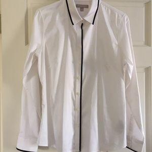 White shirt with black trim